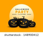 halloween party banner  flyer... | Shutterstock .eps vector #148900412