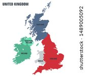 Vector Icon Regions Map United...