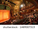 Small photo of NEW YORK, USA - JUNE 2016: People visit the new Amsterdam Theatre, a Broadway theatre located at 214 West 42nd Street between Seventh and Eighth Avenues in the Theater District of Manhattan
