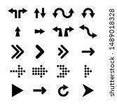 arrows collection. black arrows ... | Shutterstock .eps vector #1489018328