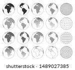 set of various vector three... | Shutterstock .eps vector #1489027385