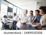 group of successful business... | Shutterstock . vector #1489035308