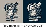 vintage college monochrome... | Shutterstock .eps vector #1489039385