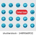 contact icon set   vector format | Shutterstock .eps vector #1489068932