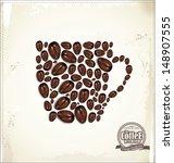 coffee background | Shutterstock .eps vector #148907555