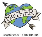 an eco earth badge for mother... | Shutterstock .eps vector #1489105805