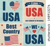 u.s.a. web collection  | Shutterstock .eps vector #148913276