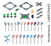 road sign 3d icon set isometric ...   Shutterstock .eps vector #1489154642