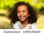 Playful Little Girl Portrait In ...