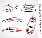 cars abstract set. vector | Shutterstock .eps vector #148917032