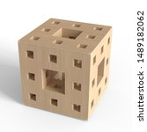 Abstract Wooden Block. Wooden...