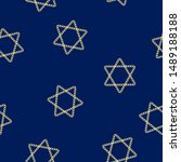 Jewish Star of David vector pattern. Golden chain star elements. Perfect for Israel Independence Day, Jerusalem Day, Pesach, Hanukkah and other Jewish holidays. Hexagram sign.