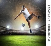 image of football player at... | Shutterstock . vector #148919315