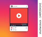 template social media video... | Shutterstock .eps vector #1489204142
