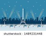 Illustration Of Paris Night In...