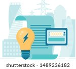 flat style payment of utility...   Shutterstock .eps vector #1489236182