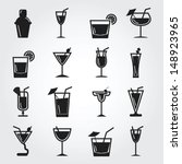 cocktail icons | Shutterstock .eps vector #148923965