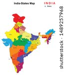 vector illustration of states... | Shutterstock .eps vector #1489257968