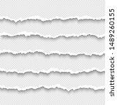 set of horizontal seamless torn ... | Shutterstock .eps vector #1489260155