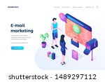 email marketing landing page...