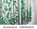 interior bamboo plant on white... | Shutterstock . vector #1489363625