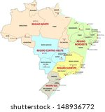 brazil  administrative and... | Shutterstock .eps vector #148936772
