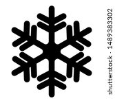 snowflake icon. christmas and... | Shutterstock .eps vector #1489383302