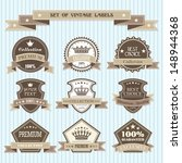 set of vintage labels | Shutterstock .eps vector #148944368