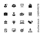 image set of 16 business icons | Shutterstock . vector #148949078