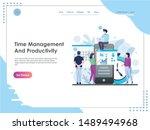 header vector illustration time ...   Shutterstock .eps vector #1489494968