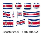 Various Flags Of Costa Rica...