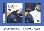 poster flyer pamphlet brochure... | Shutterstock .eps vector #1489507685