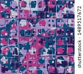 seamless pattern. the... | Shutterstock .eps vector #1489517672