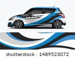 car wrap graphic racing... | Shutterstock .eps vector #1489523072