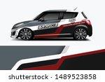 car wrap graphic racing... | Shutterstock .eps vector #1489523858