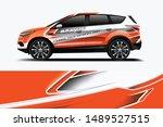 company branding car decal wrap ... | Shutterstock .eps vector #1489527515