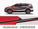 company branding car decal wrap ... | Shutterstock .eps vector #1489528328