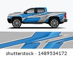 truck and car decal design... | Shutterstock .eps vector #1489534172