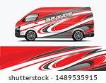 van wrap livery design. ready... | Shutterstock .eps vector #1489535915