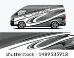 van wrap livery design. ready... | Shutterstock .eps vector #1489535918