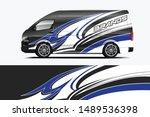 van wrap livery design. ready... | Shutterstock .eps vector #1489536398