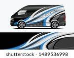 company car wrap. wrap design... | Shutterstock .eps vector #1489536998