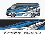 company car wrap. wrap design... | Shutterstock .eps vector #1489537685