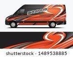 van wrap livery design. ready... | Shutterstock .eps vector #1489538885