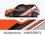 car wrap graphic racing... | Shutterstock .eps vector #1489539872