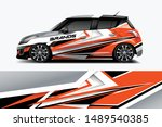 car wrap graphic racing... | Shutterstock .eps vector #1489540385