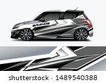 car wrap graphic racing... | Shutterstock .eps vector #1489540388