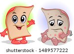 human skin is sick and healthy | Shutterstock .eps vector #1489577222
