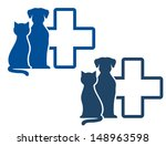 graphic blue veterinary icons... | Shutterstock .eps vector #148963598