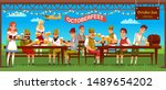 octoberfest celebration flat... | Shutterstock .eps vector #1489654202